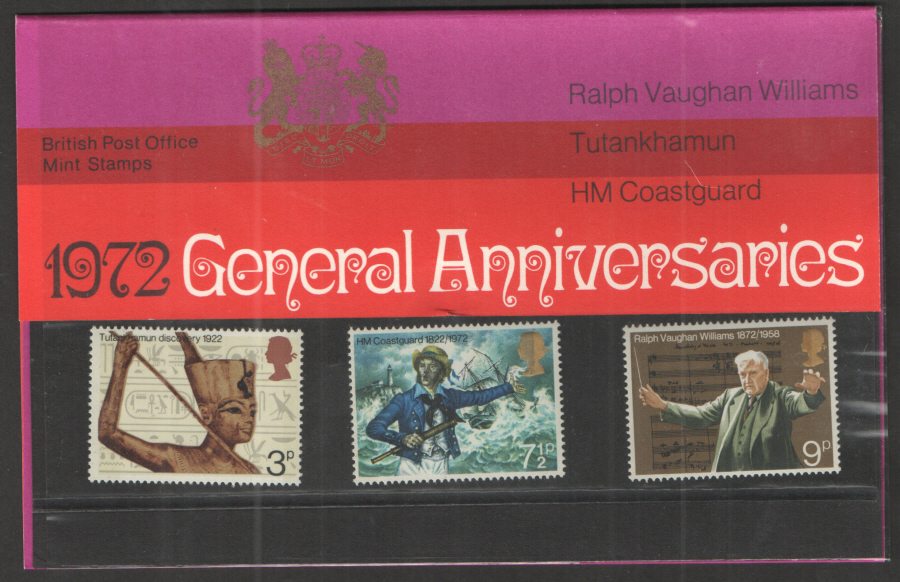 1972 General Anniversaries Royal Mail Presentation Pack 40
