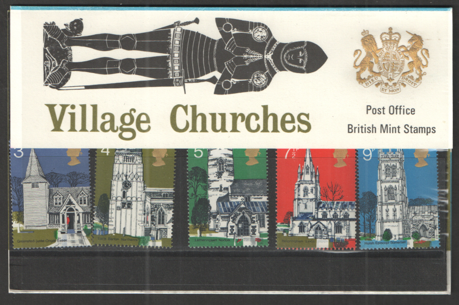 1972 Village Churches Royal Mail Presentation Pack 41