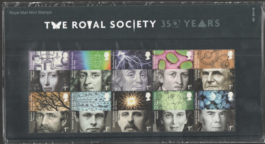 2010 Royal Society Royal Mail Presentation Pack 437
