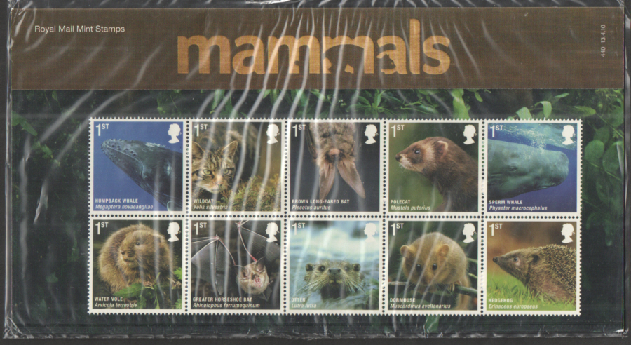 2010 Mammals Royal Mail Presentation Pack 440