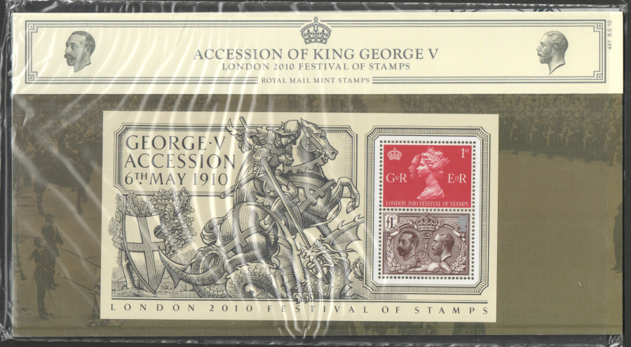 2010 Accession of George V Presentation Pack 441