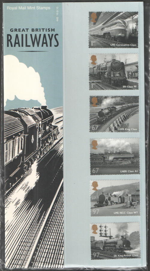 2010 Great British Railways Presentation Pack 445