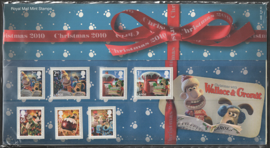 2010 Christmas with Wallace & Gromit Presentation Pack 448