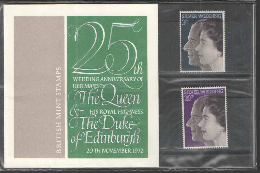 1972 Silver Wedding Royal Mail Presentation Pack 45