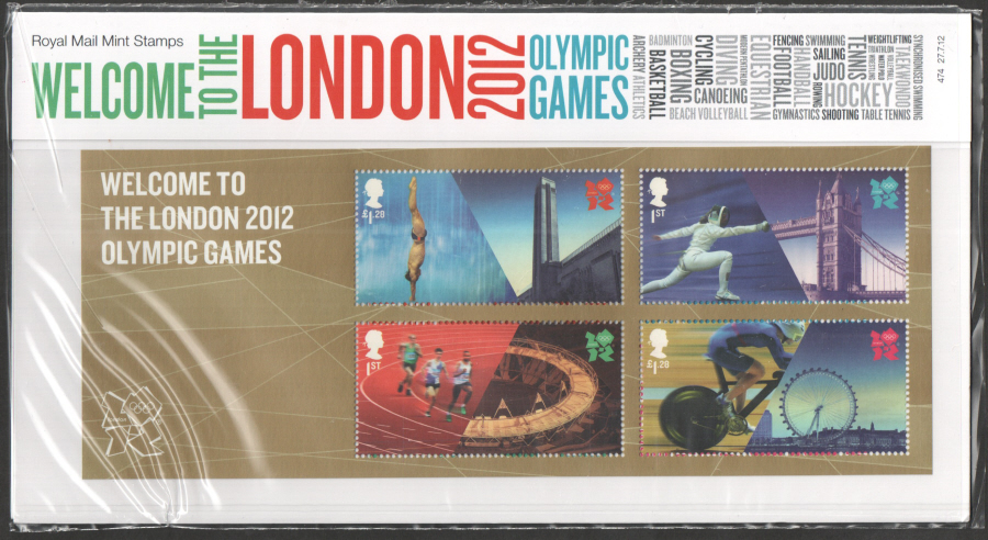 2012 Welcome to London 2012 Olympics Presentation Pack 474