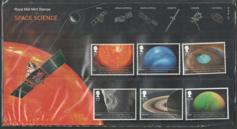 2012 Space Science Royal Mail Presentation Pack 477