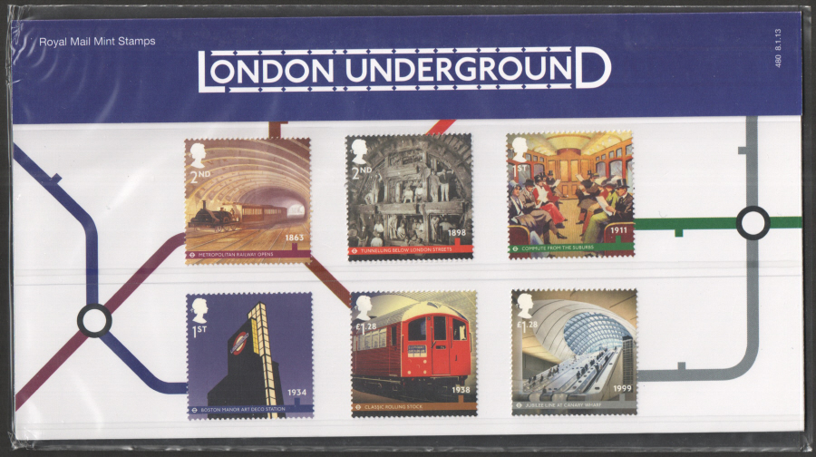 2013 London Underground Royal Mail Presentation Pack 480