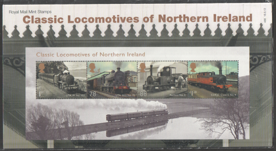 2013 Classic Locomotives of Northern Ireland Royal Mail Presentation Pack 486