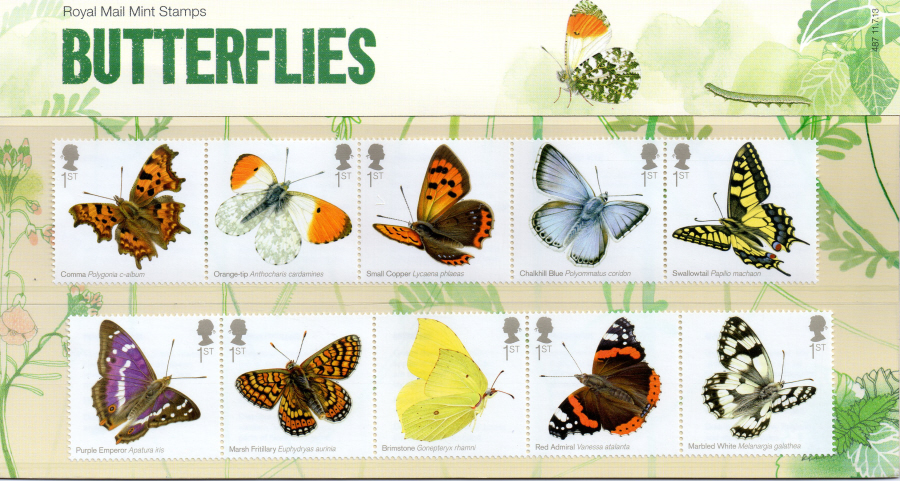 2013 Butterflies Royal Mail Presentation Pack 487