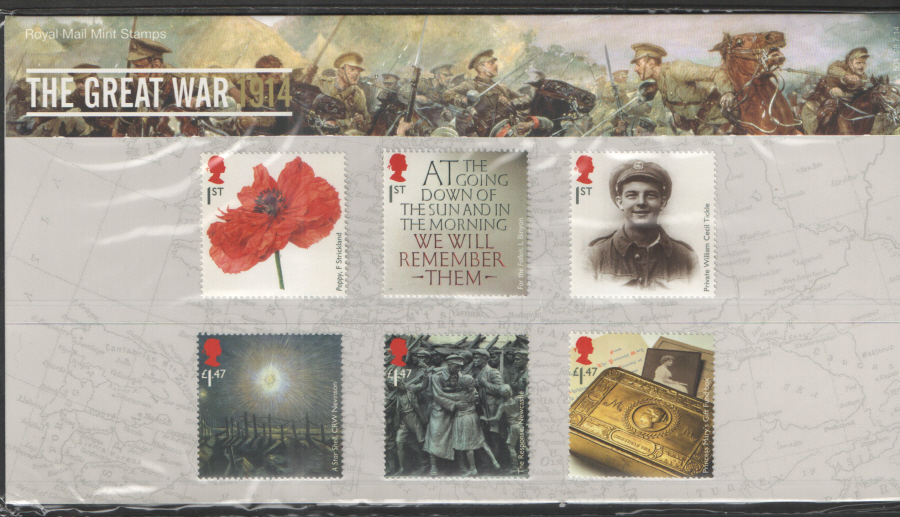 "2014 ""The Great War 1914"" Royal Mail Presentation Pack 501"