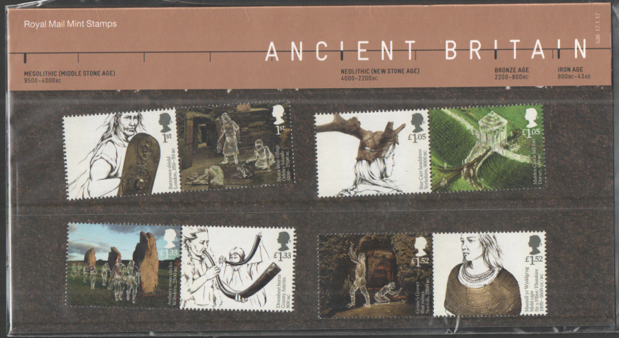 2017 Ancient Britain Royal Mail Presentation Pack 536