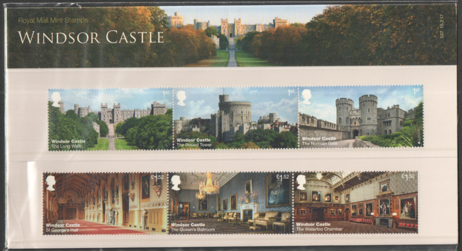 2017 Windsor Castle Royal Mail Presentation Pack 537