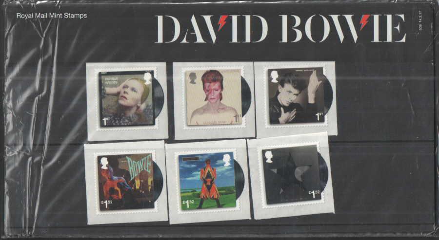 2017 David Bowie Royal Mail Presentation Pack 538