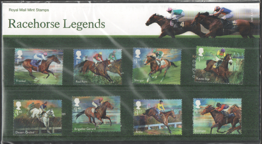 2017 Racehorse Legends Royal Mail Presentation Pack 539