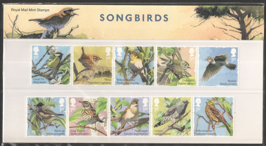 2017 Songbirds Royal Mail Presentation Pack 540