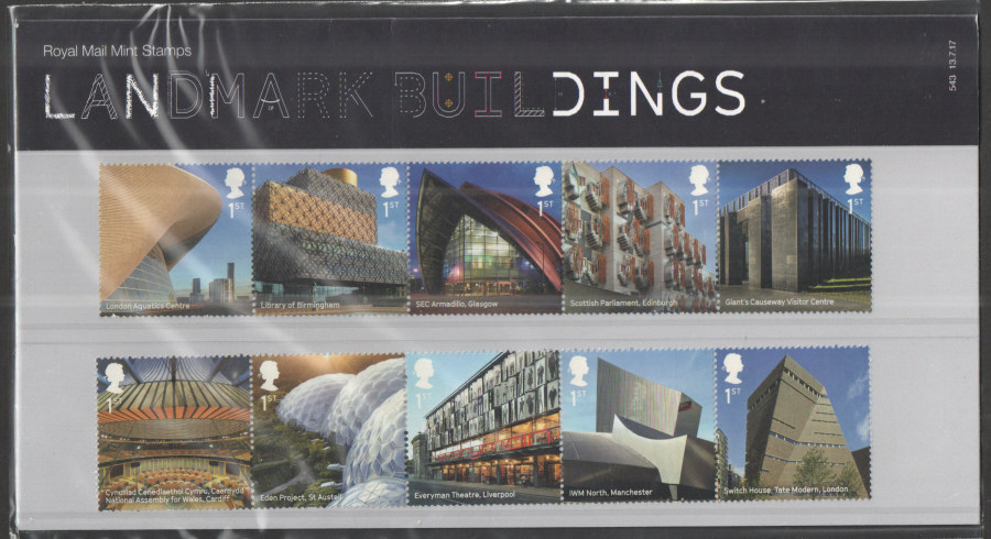2017 Landmark Buildings Royal Mail Presentation Pack 543