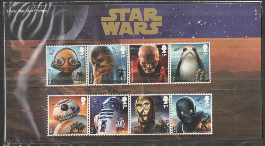 2017 Star Wars Royal Mail Presentation Pack 547