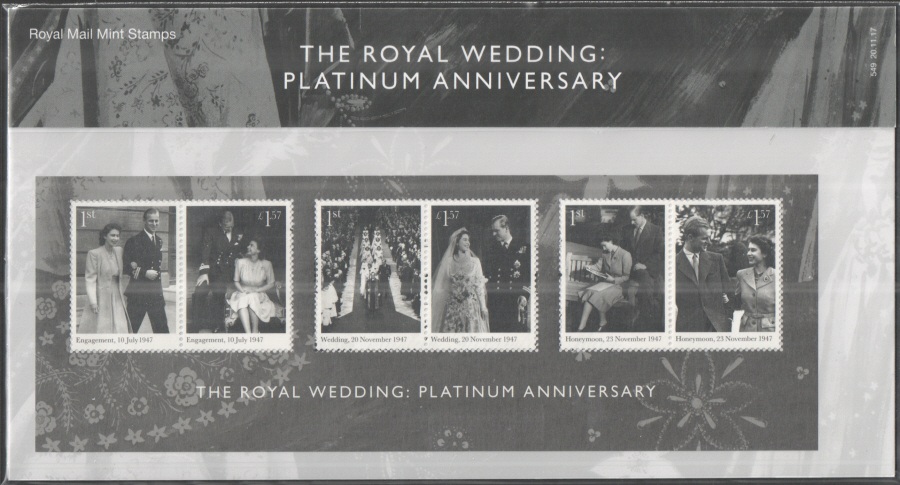 2017 Royal Platinum Wedding Anniversary Royal Mail Presentation Pack 549