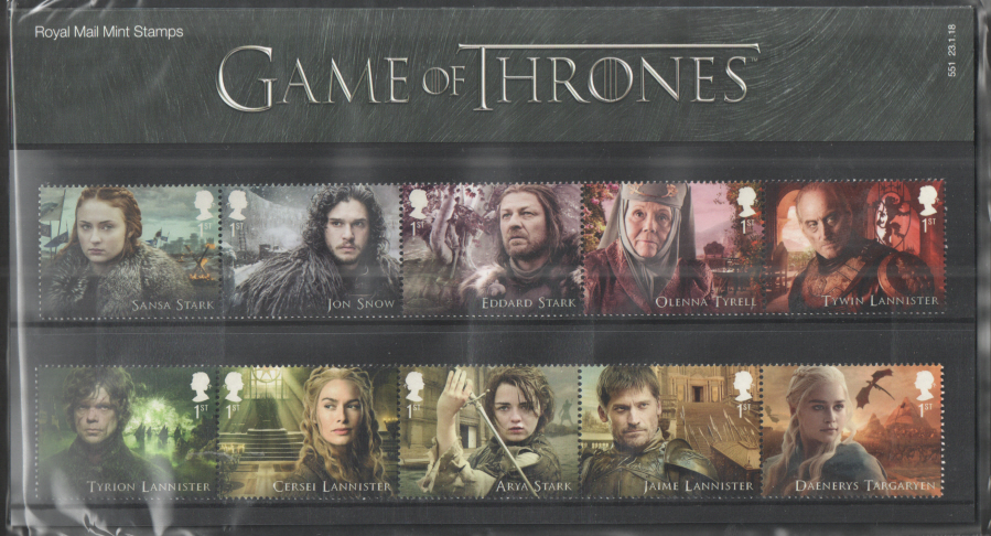 2018 Game of Thrones Royal Mail Presentation Pack 551
