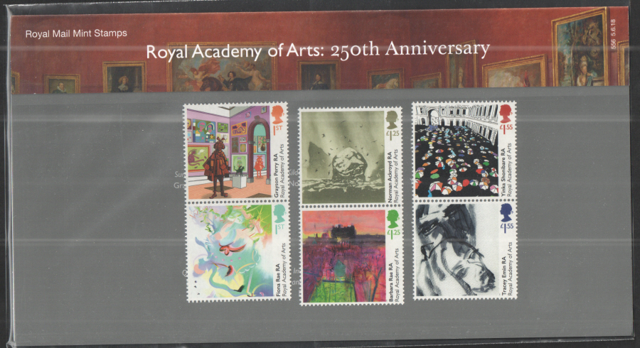 2018 Royal Academy of Arts Royal Mail Presentation Pack 556