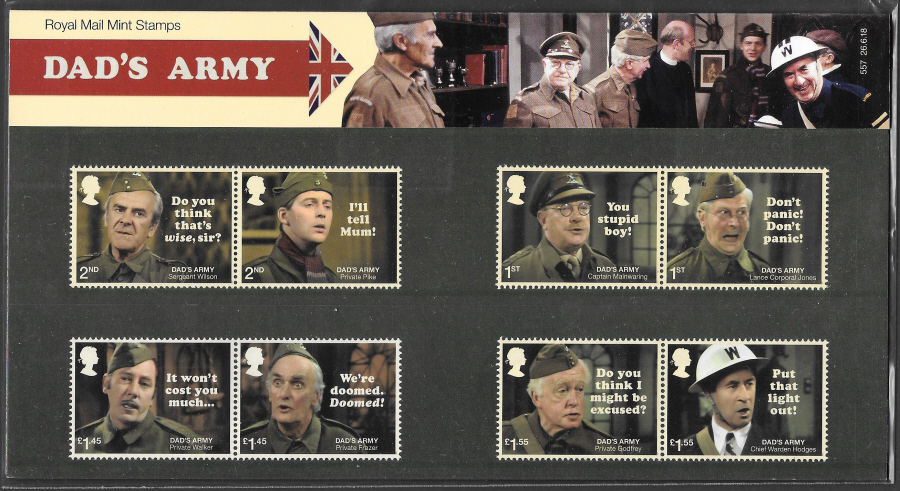 2018 Dad's Army Royal Mail Presentation Pack 557