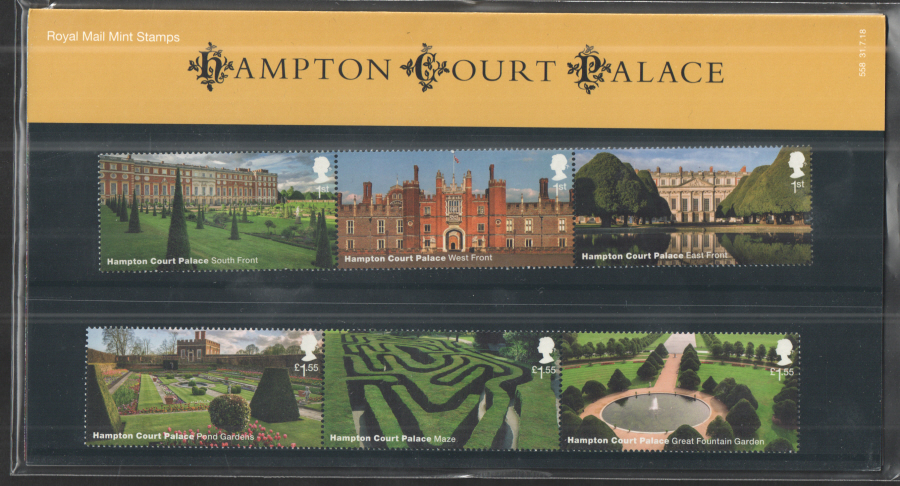 2018 Hampton Court Palace Royal Mail Presentation Pack 558