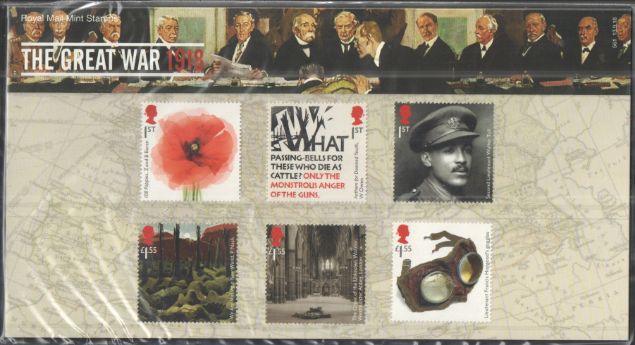 "2018 ""The Great War 1918"" Royal Mail Presentation Pack 561"