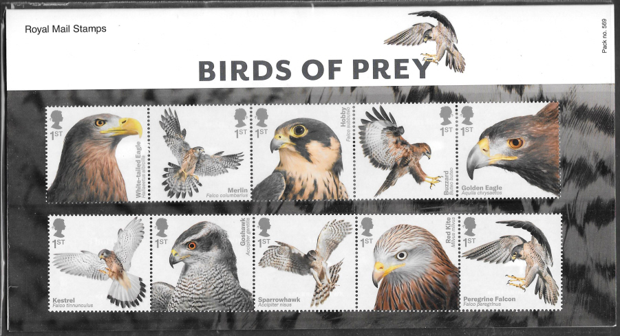2019 Birds of Prey Royal Mail Presentation Pack 569