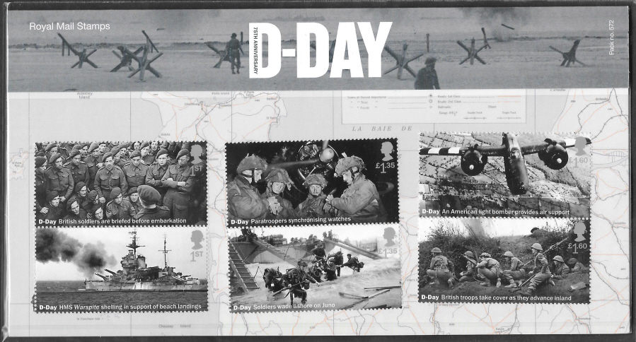 2019 D-Day 75th Anniversary Royal Mail Presentation Pack 572