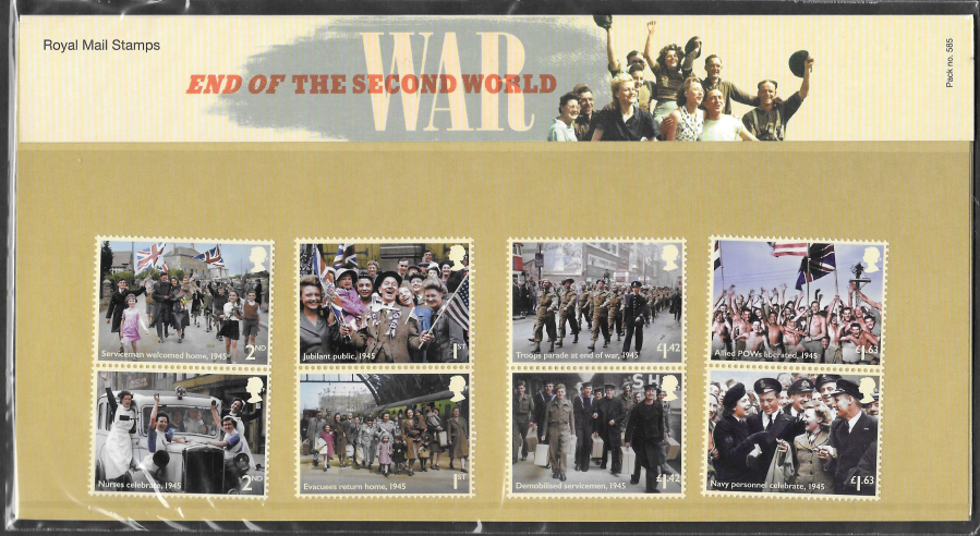 2020 End Of The Second World War Royal Mail Presentation Pack 585