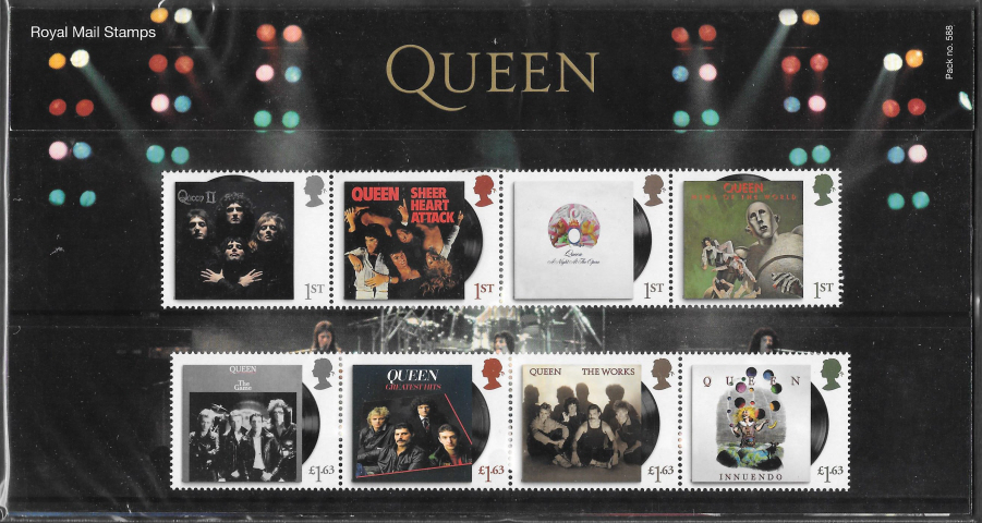 2020 Queen Royal Mail Presentation Pack 588