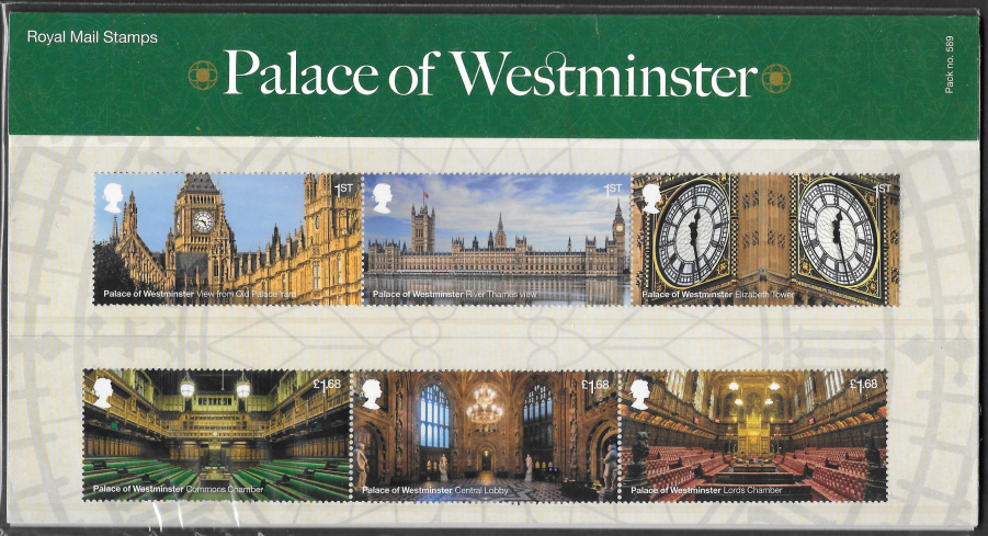 2020 Palace of Westminster Royal Mail Presentation Pack 589