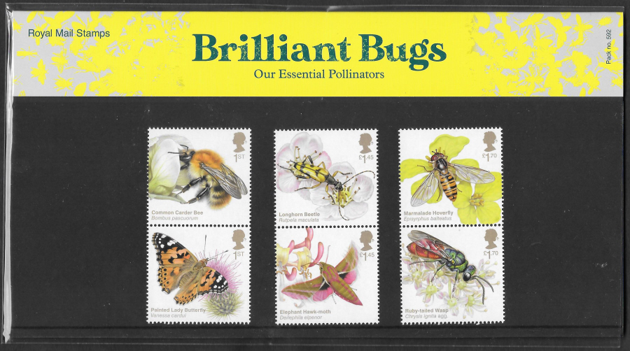 2020 Brilliant Bugs Royal Mail Presentation Pack 592
