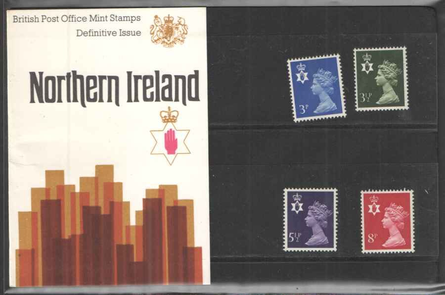 1974 Northern Ireland Definitive Royal Mail Presentation Pack 61