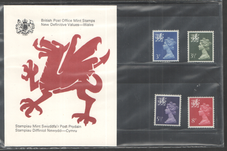 1974 Wales Definitive Royal Mail Presentation Pack 63