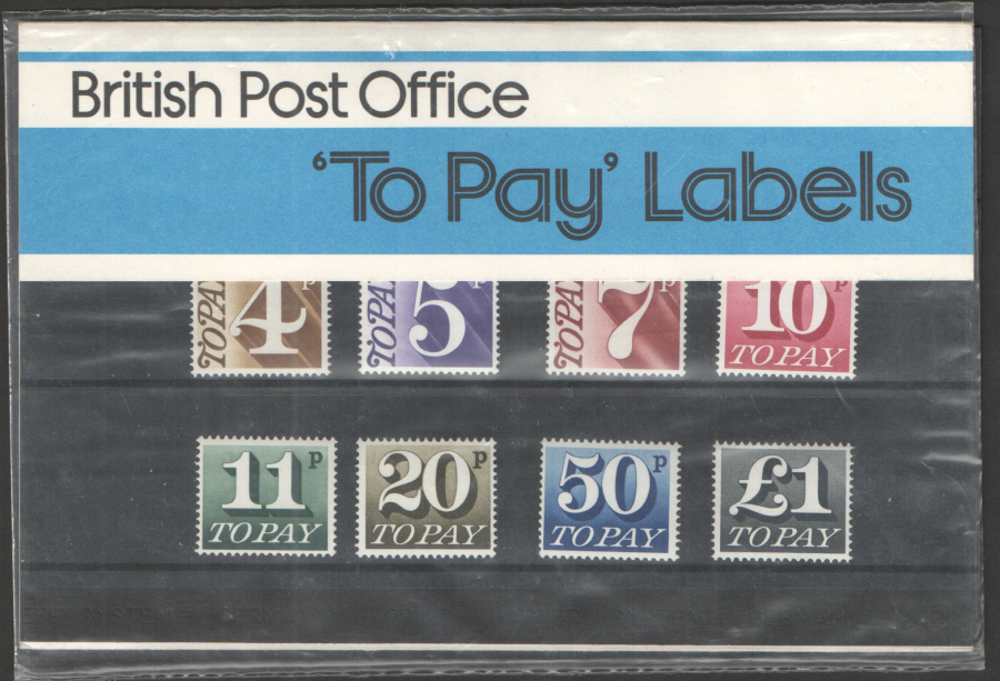 1977 Postage Due / To Pay Royal Mail Presentation Pack 93