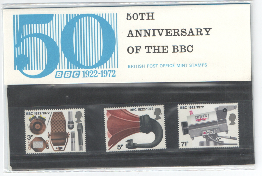 1972 BBC 50th Anniversary Staff Private Presentation Pack
