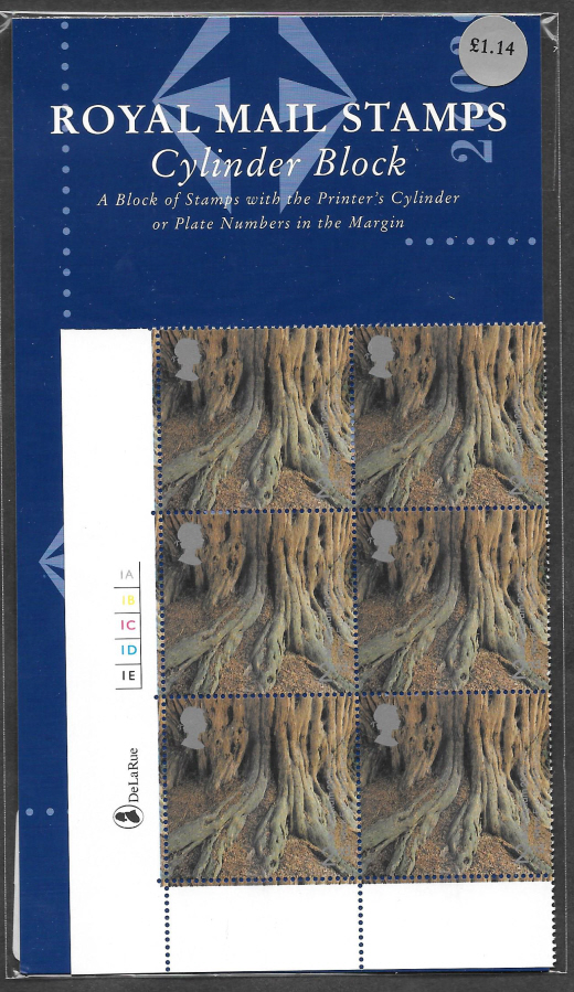 2000 SG2156 Tree & Leaf 2nd Class Stamp Show Format Pack