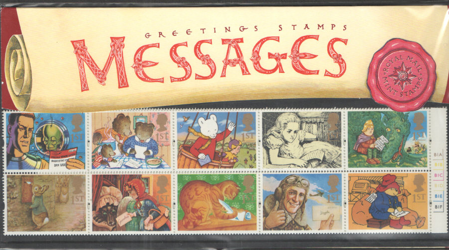 1994 Cylinder B1A etc Messages Greetings Booklet Pane Presentation Pack G3 - KX6 / DB13(7)