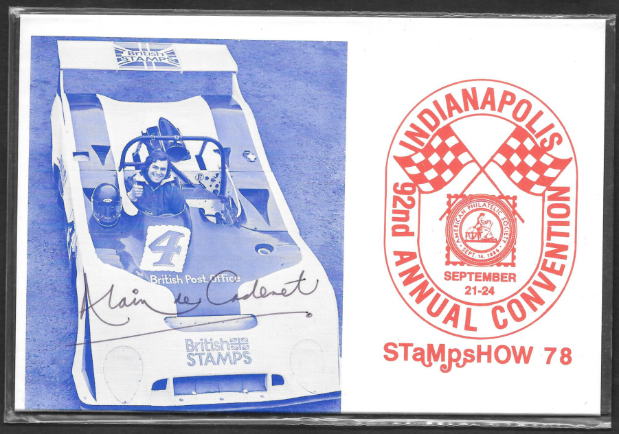 1978 Indianapolis APS Convention Autographed Private Presentation Pack