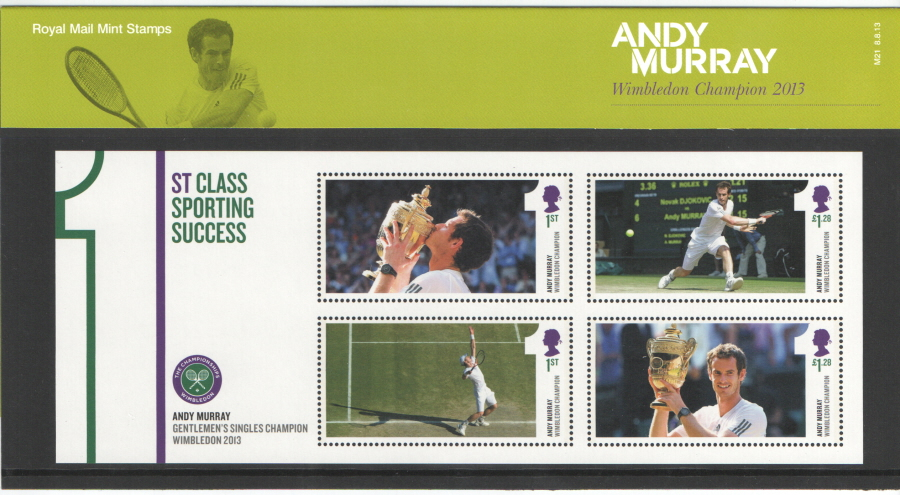 2013 Andy Murray Royal Mail Presentation Pack M21