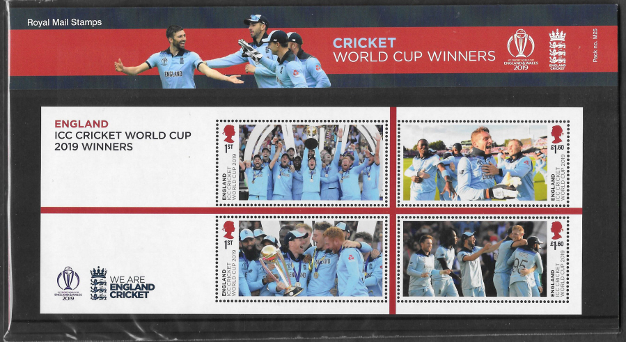 2019 Cricket World Cup Royal Mail Presentation Pack M25