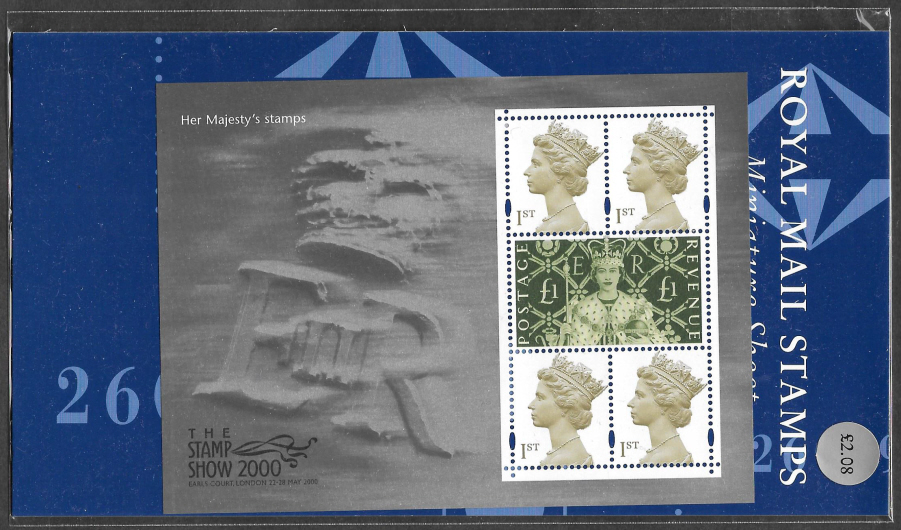 "2000 MS2147 ""Her Majesty's Stamps"" Stamp Show Format Pack"