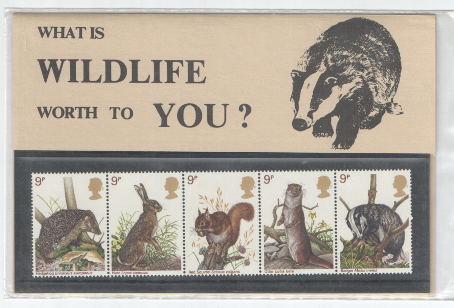 1977 National Trust Wildlife Private Presentation Pack