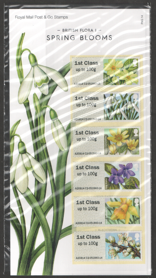 2014 British Flora I: Spring Blooms Post & Go Presentation Pack P&G14
