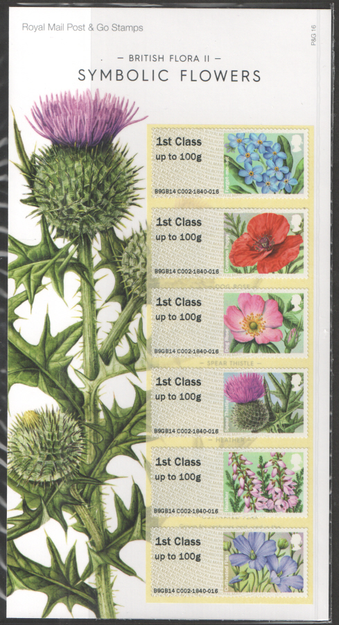 2014 British Flora II: Symbolic Flowers Post & Go Presentation Pack P&G16