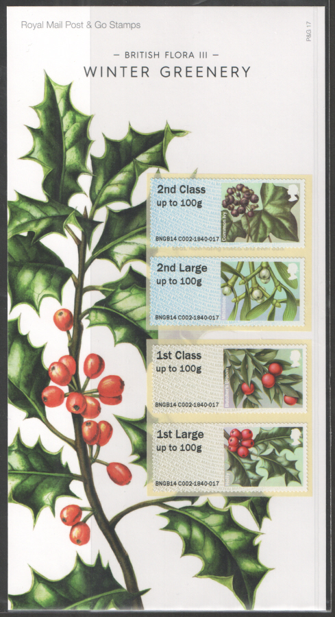 2014 British Flora III: Winter Greenery Post & Go Presentation Pack P&G17