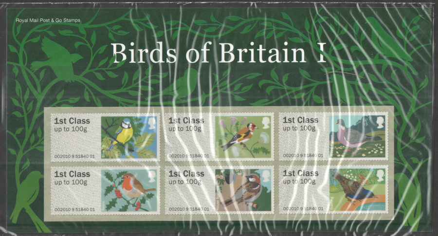 2010 Birds of Britain I Post & Go Presentation Pack P&G2