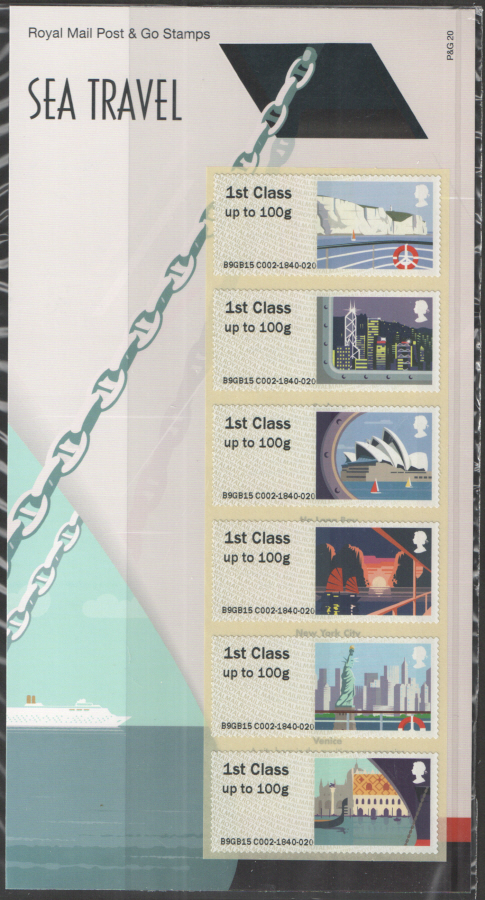 2015 Sea Travel Post & Go Royal Mail Presentation Pack P&G20