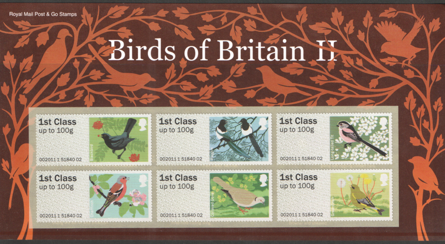2011 Birds of Britain II Post & Go Presentation Pack P&G3
